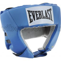 Шлем боксерский EVERLAST USA Boxing натуральная кожа  610206U M Голубой